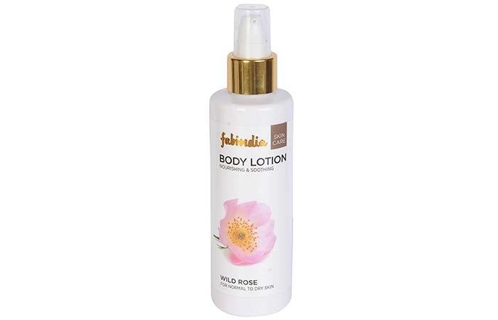 8. Fabindia Wild Rose Body Lotion