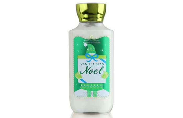 7. Bath And Body Works Vanilla Bean Noel Body Lotion