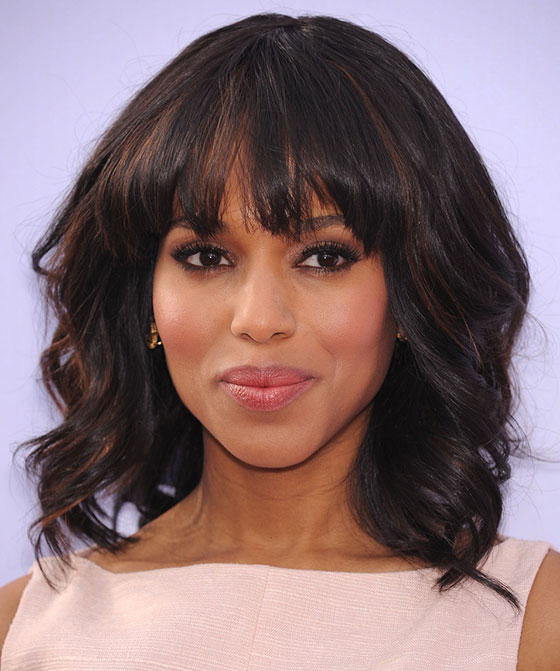 Swept Away Curls Bob With Fringe