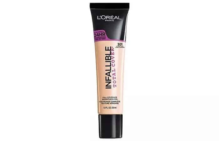 11.L'Oreal Paris Infallible Total Cover Foundation